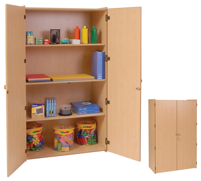 Steffywood Organizer Teachers 3 Shelf Wooden Locking Storage ...