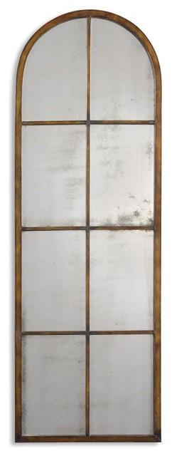 Uttermost Amiel Arched Brown Mirror.