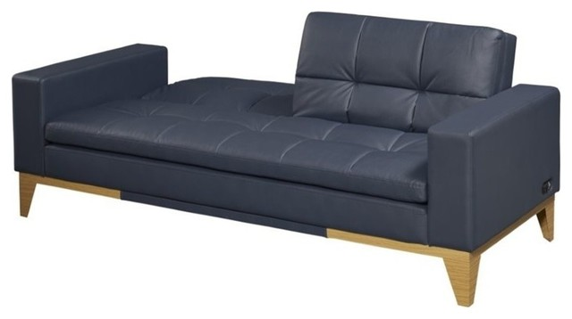 Relaxalounger Newtown Bonded Leather Convertible Sofa, Java