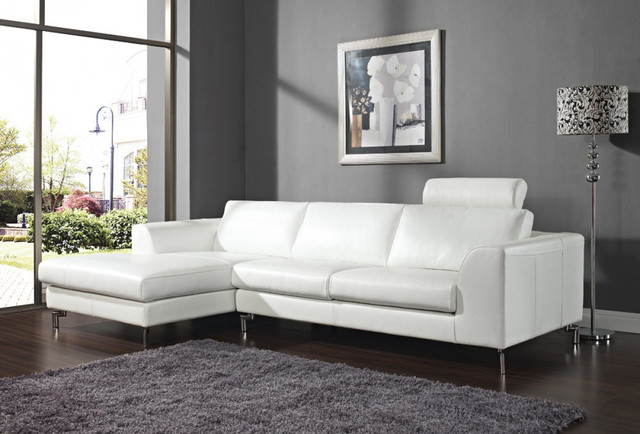 Angela White Sectional With Left Side
