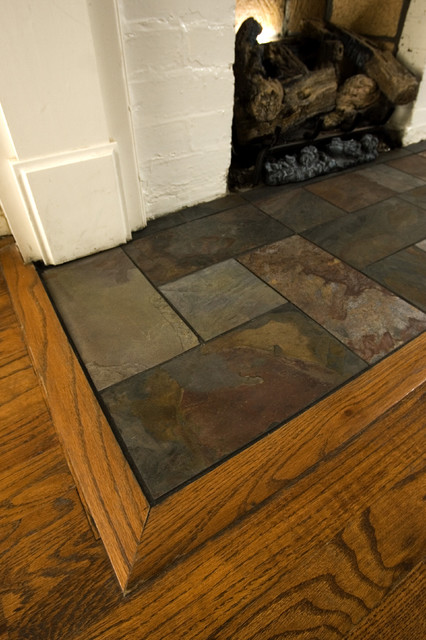 Eastwood Slate Fireplace Hearth - Traditional - Family ...