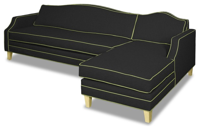 Blackburn 2-Piece Sectional Sofa, Coal/sprite, Chaise On Right.