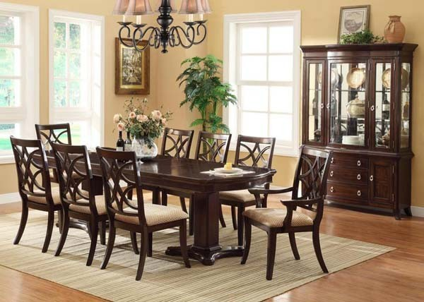 transitional dining room sets crown 7 pc katherine transitional dining room set 22413