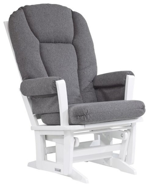 Dutailier Glider in Dark Gray and White by Dutailier Group