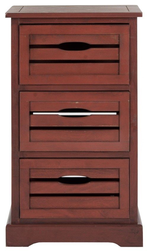 Samara 3 Drawer Cabinet - Red