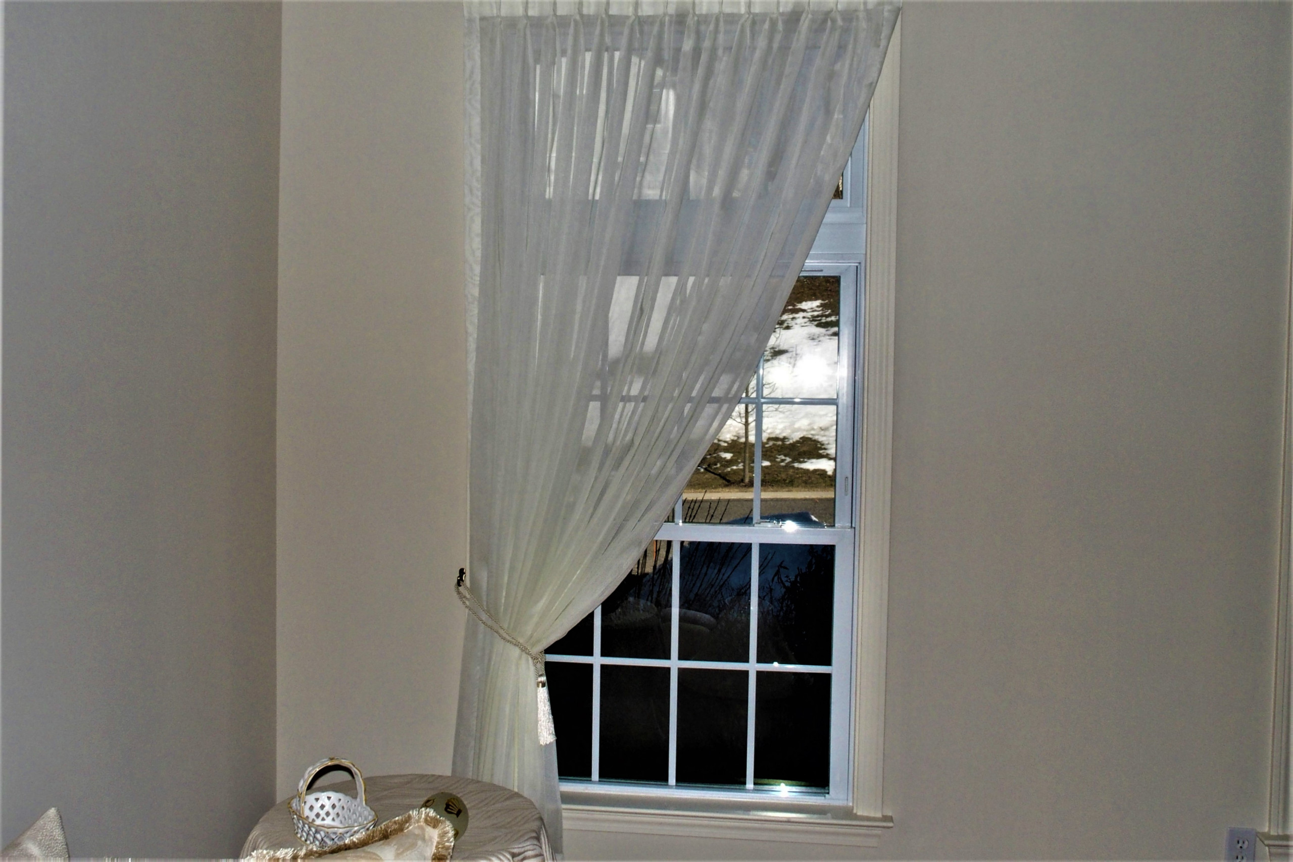Window treatments in free standing home in a 55 and older community
