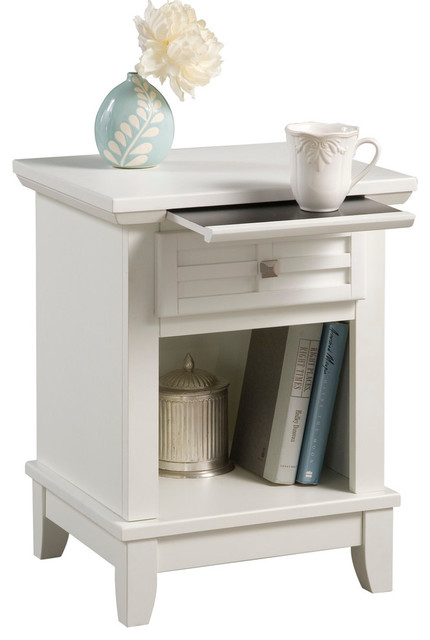 Arts and Crafts Nightstand, White