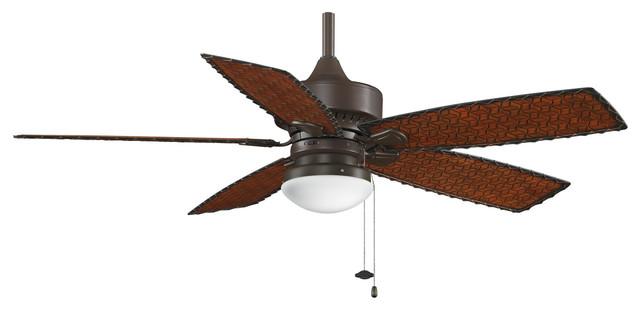 """Fanimation Cancun 52"""" Oil-Rubbed Bronze Ceiling Fan W/ 5 Blades - Fp8016ob."""