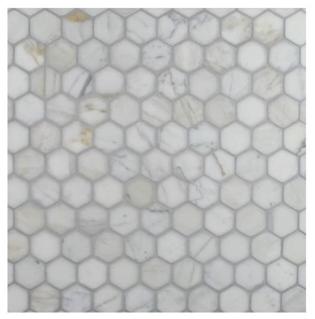 Marble Matte Finish Hexagon Mosaic