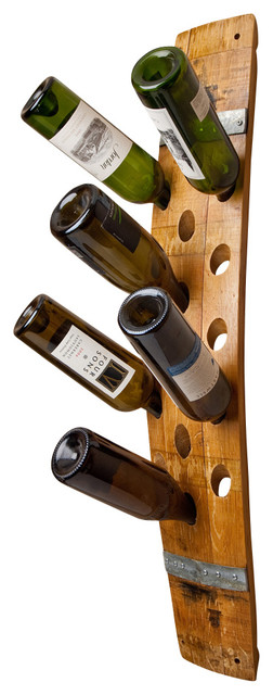 Wine Barrel Wall 16-Bottle Wine Rack.