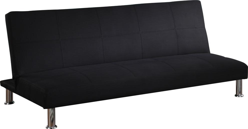 Awe Inspiring Colbert Tufted Fabric Adjustable Sofa Futon Black Pabps2019 Chair Design Images Pabps2019Com