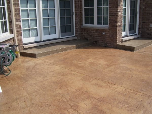 Stamped concrete patio lastiseal concrete stain sealer for How to clean concrete floors before staining
