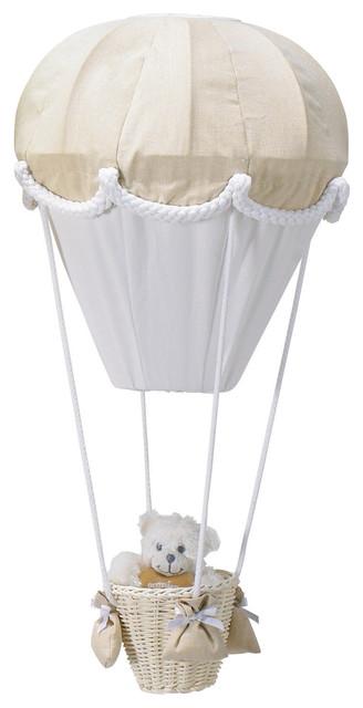 Hot Air Balloon Ceiling Lamp, Ecru and White
