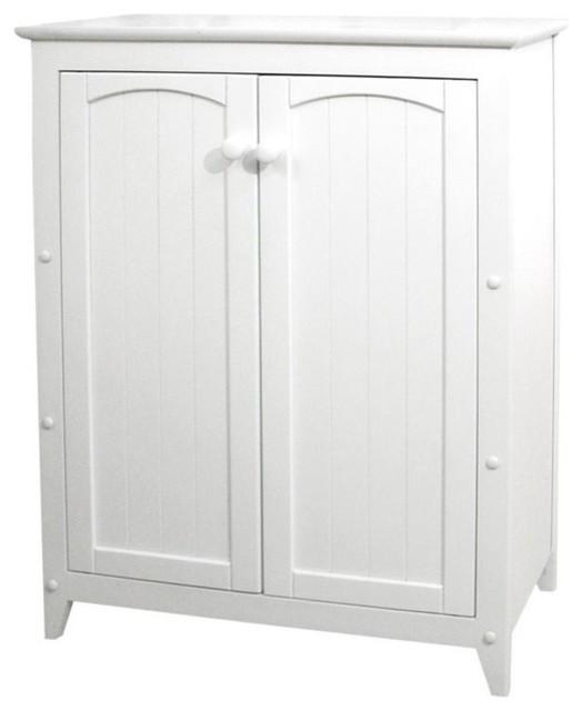 Catskill Craftsmen 2 Door Wood Storage Cabinet Black Storage
