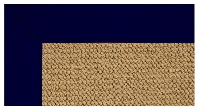 Colored Trim Rug In Wool With Jute Backing Contemporary
