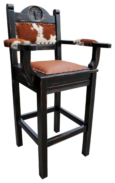 Rancho Collection Texas Western Stool Arms View In