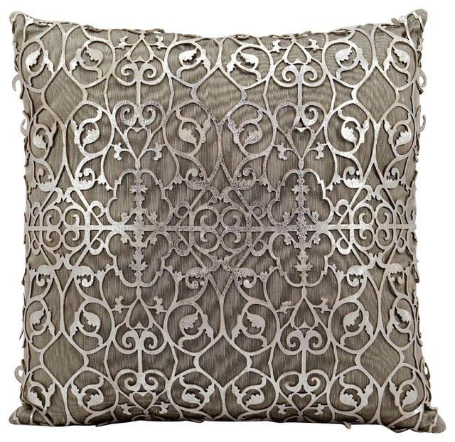 Contemporary Laser Cut Pillow Decorative Pillow