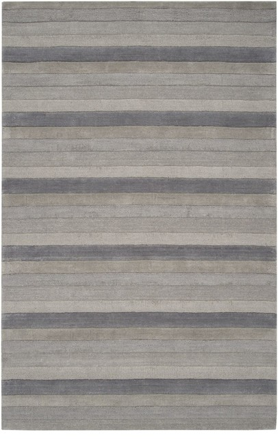 Solid Striped Mystique 2u0027x3u0027 Rectangle Gray Blue Area Rug