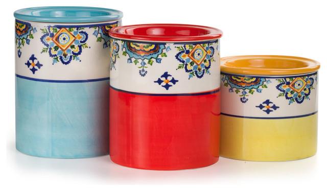 Euro Ceramica Mumbai 3 Piece Canister Set
