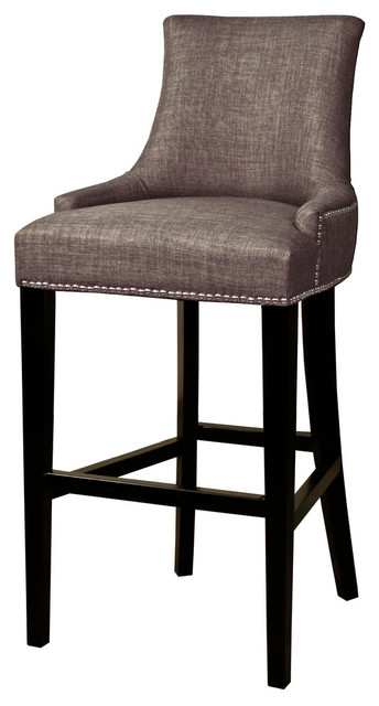 Charlotte Fabric Bar Stool, Toffee.