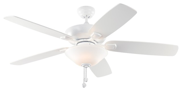 52 Colony Max Plus Ceiling Fan, Rubberized White.