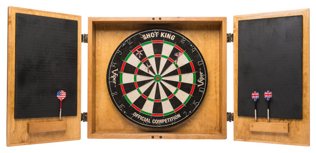 Wine Crate Dartboard Cabinet - Rustic - Darts And Dartboards - by ...