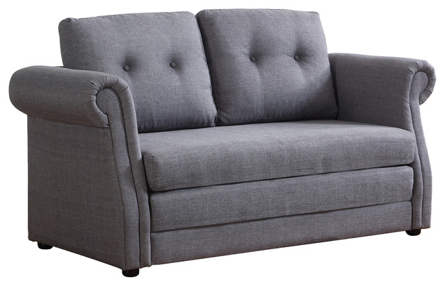 July Love Seat With Bed, Gray.