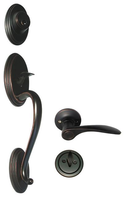 Satin Nickel Door Knobs passage lever handle Locks closet hallway 836 Brushed
