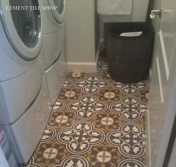 Client Projects - Mediterranean - Laundry Room - Tampa - by Cement Tile Shop