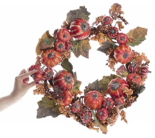 Pumpkin And Berry Wreath.
