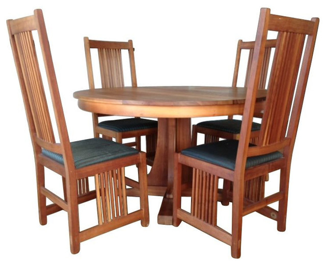 Stickley Pedestal Table And 6 Chairs