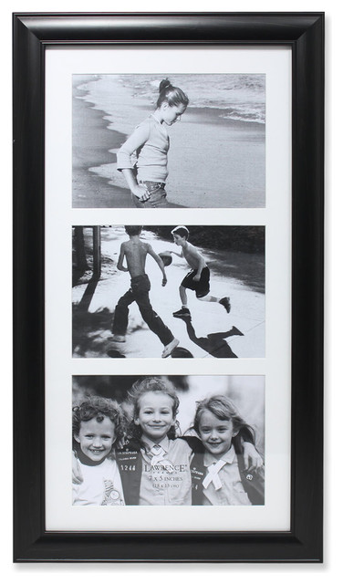 "7-Slot Photo Collage Frame, Black, 5""x7"" Triple (not Hinged)."