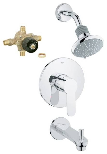 GROHE Eurostyle Shower Tub Combination With Rough In Chrome Tub And Shower