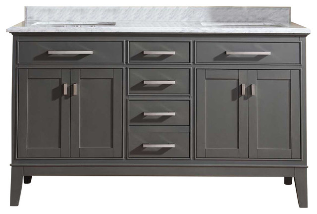 Bathroom Vanity Table danny double bathroom vanity set - transitional - bathroom