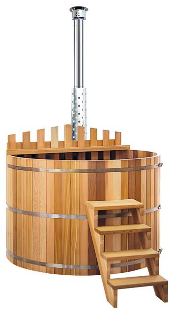 aqua wooden hot tub large