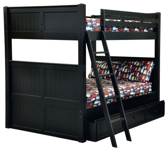 Boat Bed With Trundle And Toy Box Storage: Beatrice Queen Over Queen Bunk Bed
