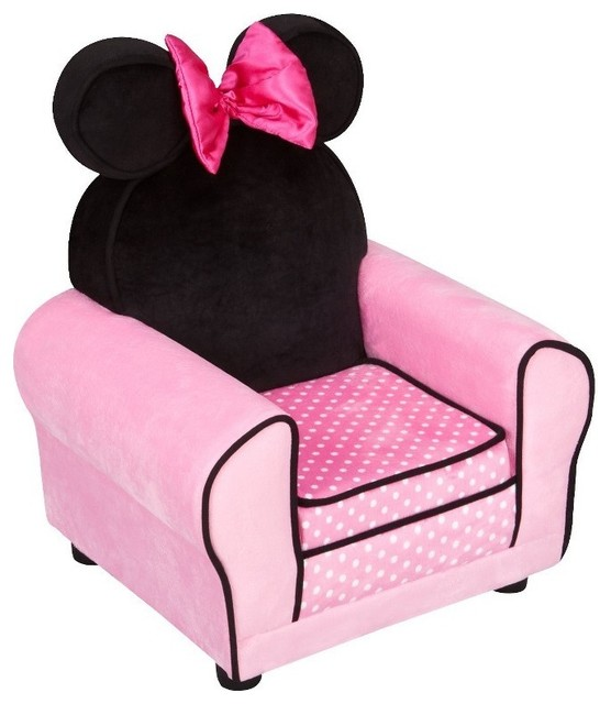 Charmant Disney Minnie Mouse Upholstered Sofa Chair