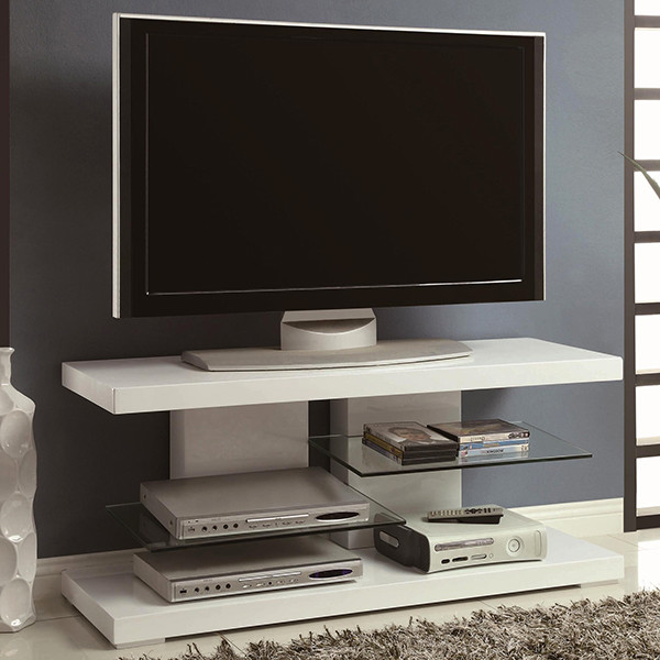 contemporary tv stand in high gloss white modern entertainment centers and tv stands new. Black Bedroom Furniture Sets. Home Design Ideas