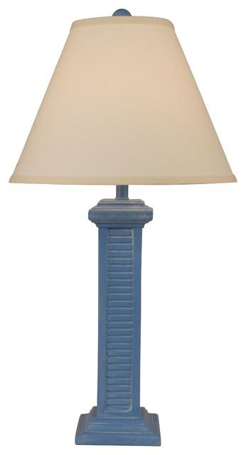 Coast lamp coastal living tall shutter lamp blue china wash blue china wash tall shutter table lamp contemporary table lamps aloadofball Images