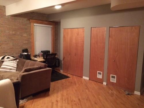 Elegant Utility Closet Doors   Color And Trim