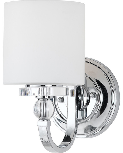 Transitional Bathroom Wall Sconces : Quoizel Lighting Downtown 1-Light Wall Sconce - Transitional - Bathroom Vanity Lighting - by ...