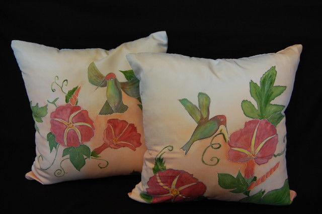 Pillow Cover Design For Painting: Hand painted pillow shams,