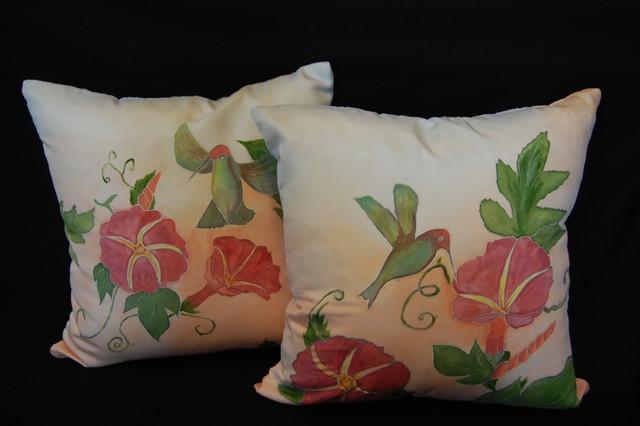 Hand painted pillow shams tropical-pillowcases-and-shams & Hand painted pillow shams pillowsntoast.com