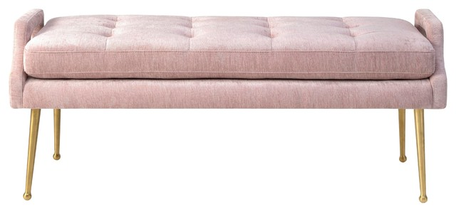 Jenton Velvet Bench, Blush.