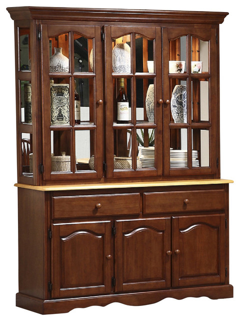 Treasure Buffet and Lighted Hutch - Traditional - China Cabinets And Hutches - by Sunset Trading