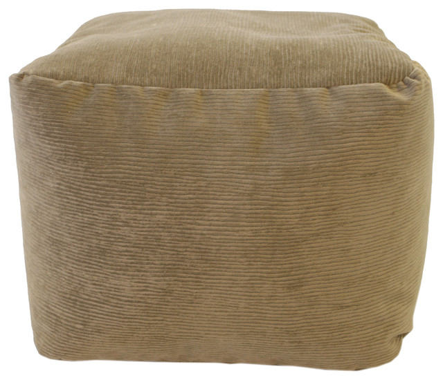 Small Footstools And Ottomans ~ Small micro fiber suede corduroy ottoman toast