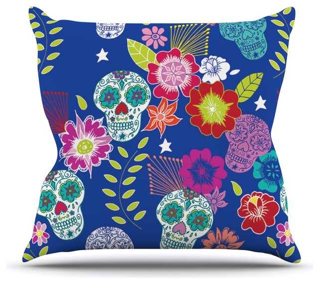 Blue Aztec Throw Pillows : Anneline Sophia