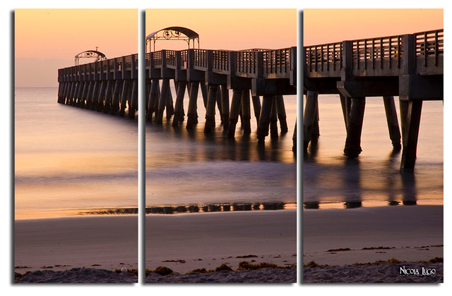 "Wall Art Set Of 3 sun pier"" 3-piece canvas wall art setnicola lugo, 20""x48"