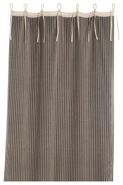 Veluti Striped Velvet Curtain - Traditional - Curtains ...
