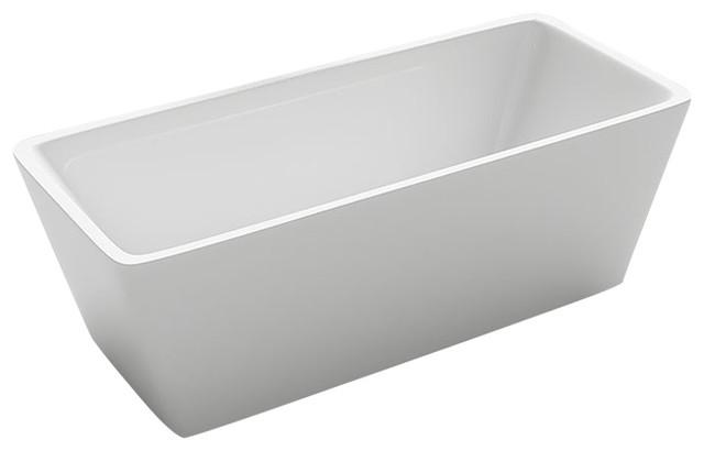 Kokss garda freestanding modern seamless acrylic bathtub contemporary bathtubs by kitchen for Woodbridge 54 modern bathroom freestanding bathtub